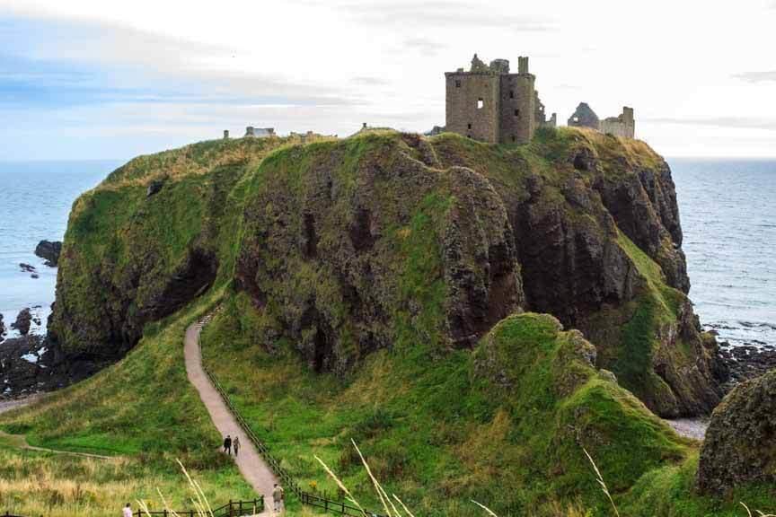 Dunnottar Castle an der Ostküste von Schottland